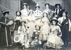 Nellie with group of women in outfits